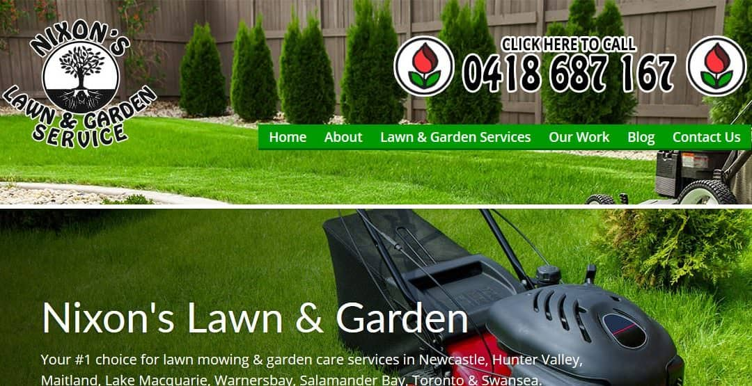 Nixon's Lawn & Garden Service | Website Launch | Newcastle Lawn Mowing